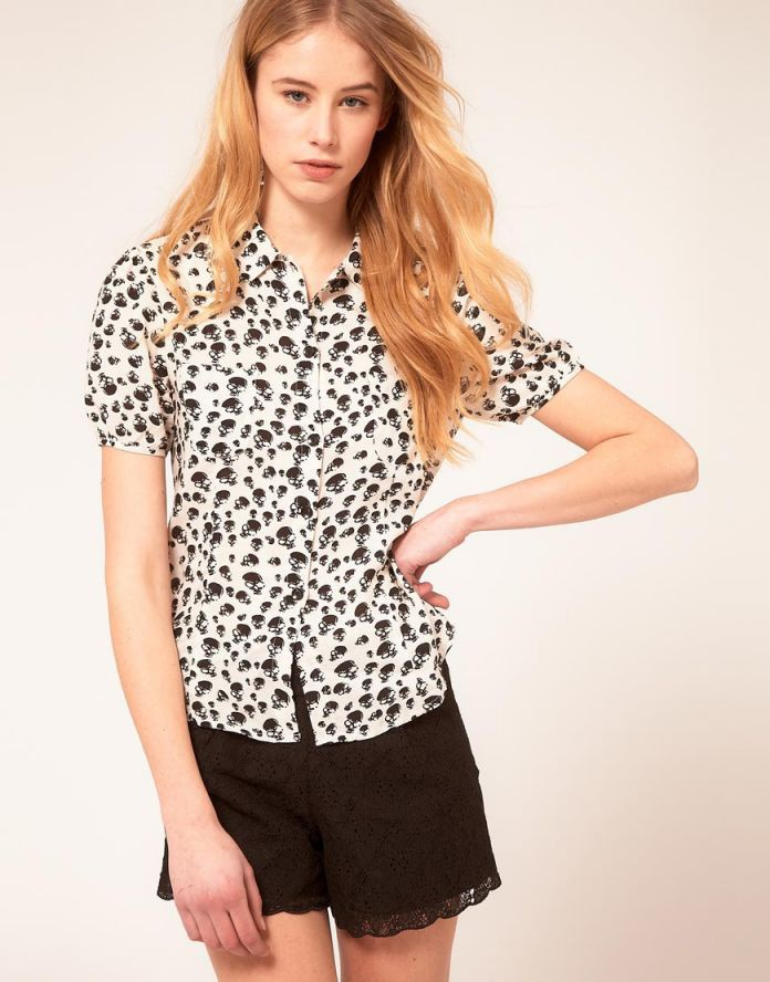 Блузка Peoples Market Skull Blouse, р-р XS