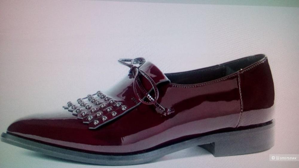 Туфли лофферы винного цвета NAPOLEONI размер 39
