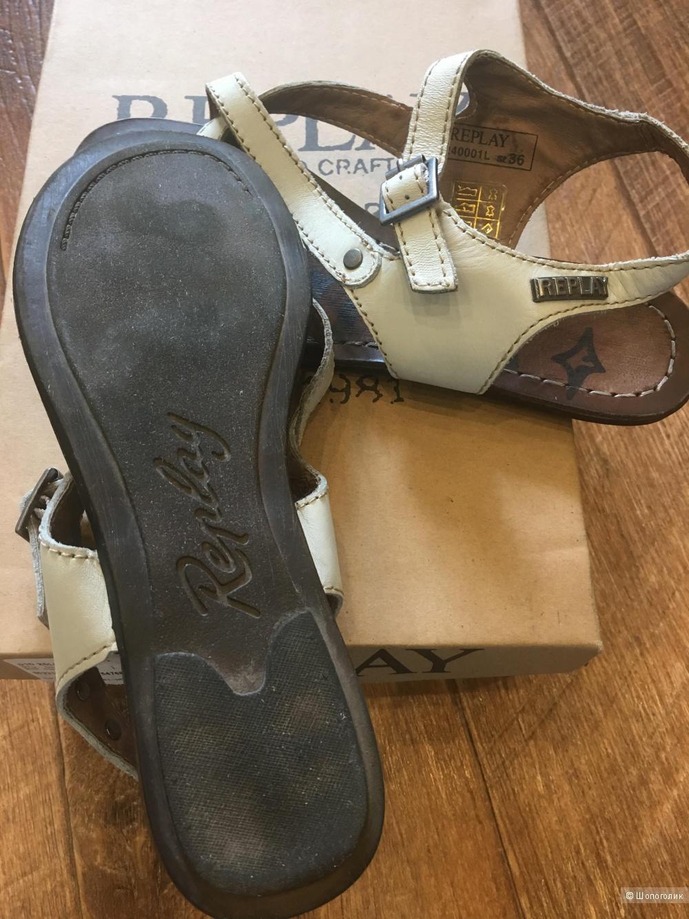 Кожаные сандалии 36раз.