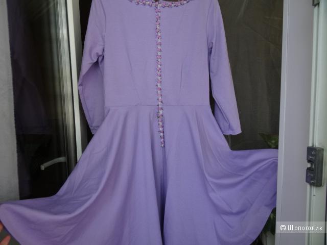 """Платье трикотажное """"Closet"""", размер 44-46, б/у"""