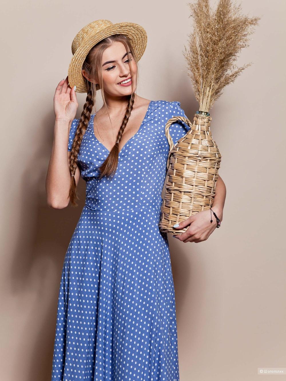 Красивое длинное легкое платье Grand 46 размер