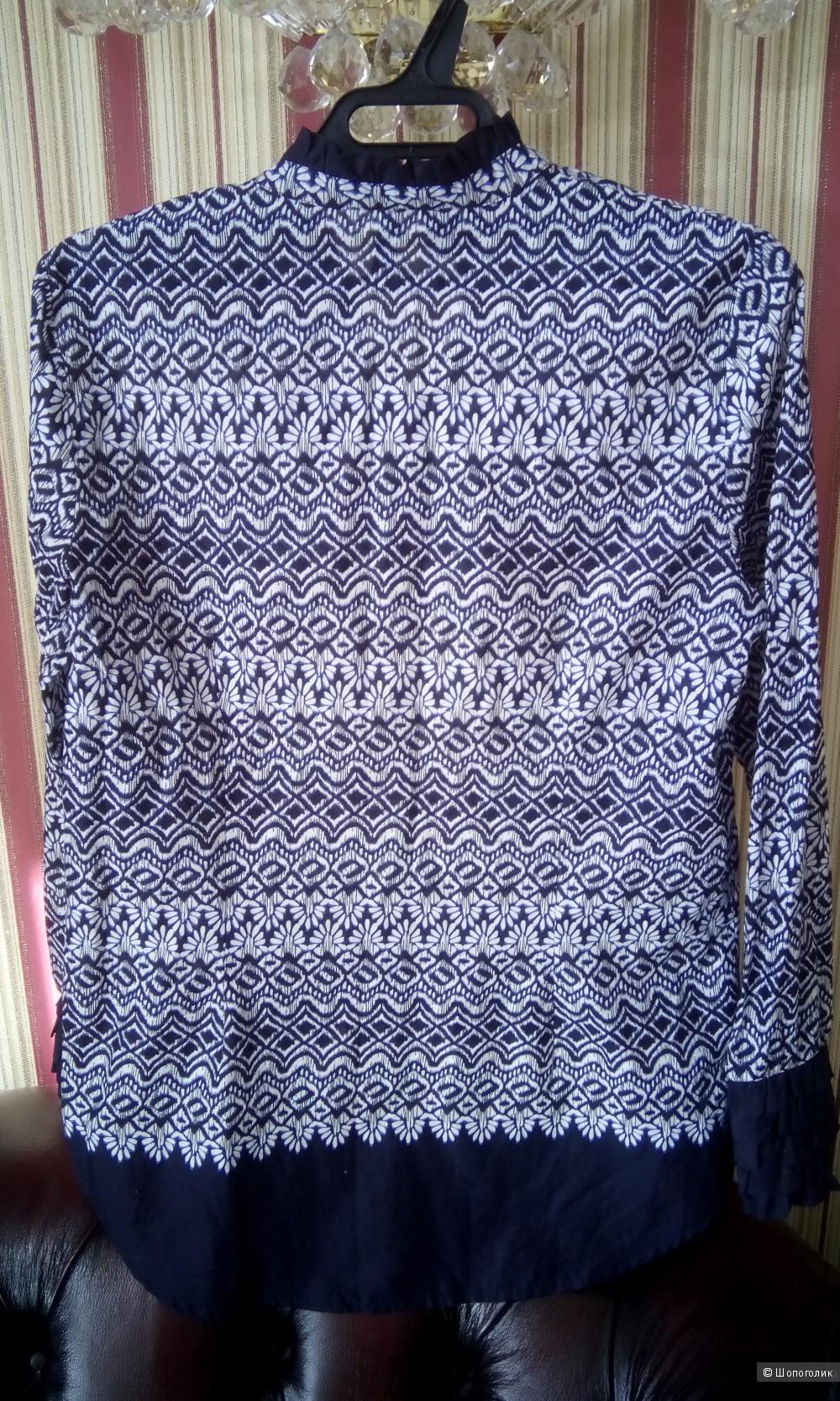 Новая без бирок легкая хлопковая блуза Mango