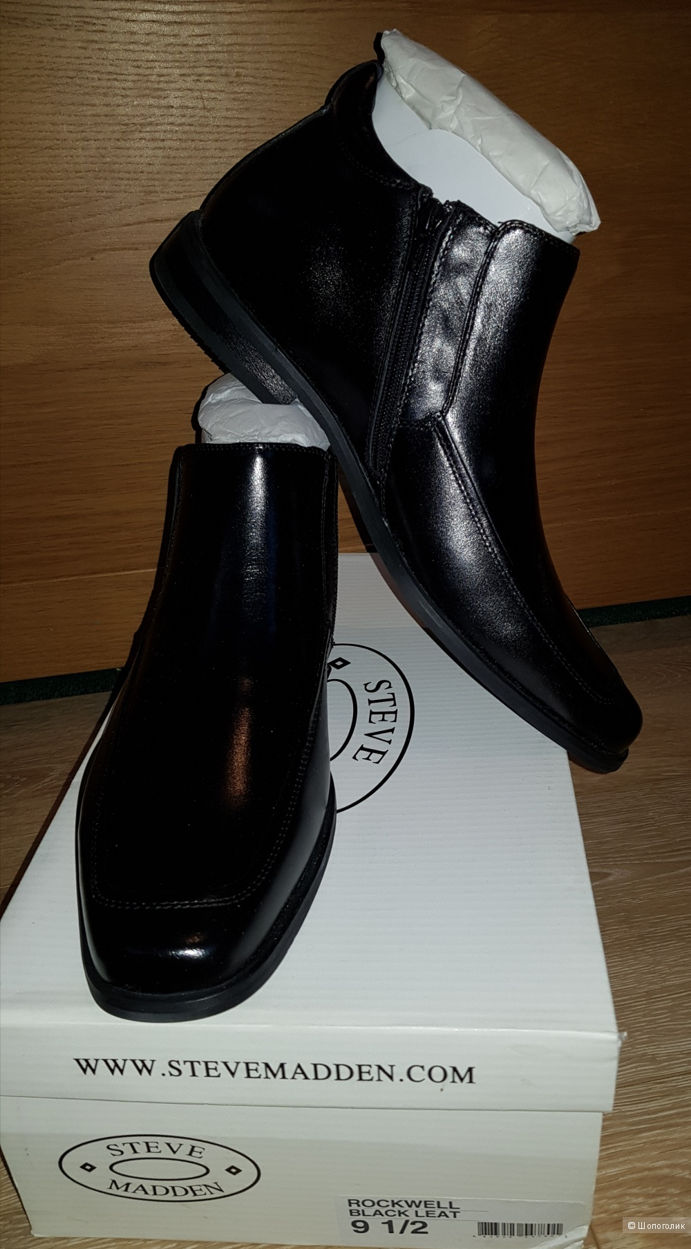 Туфли Steve Madden, черный, размер 9.5US, 42.5EU,