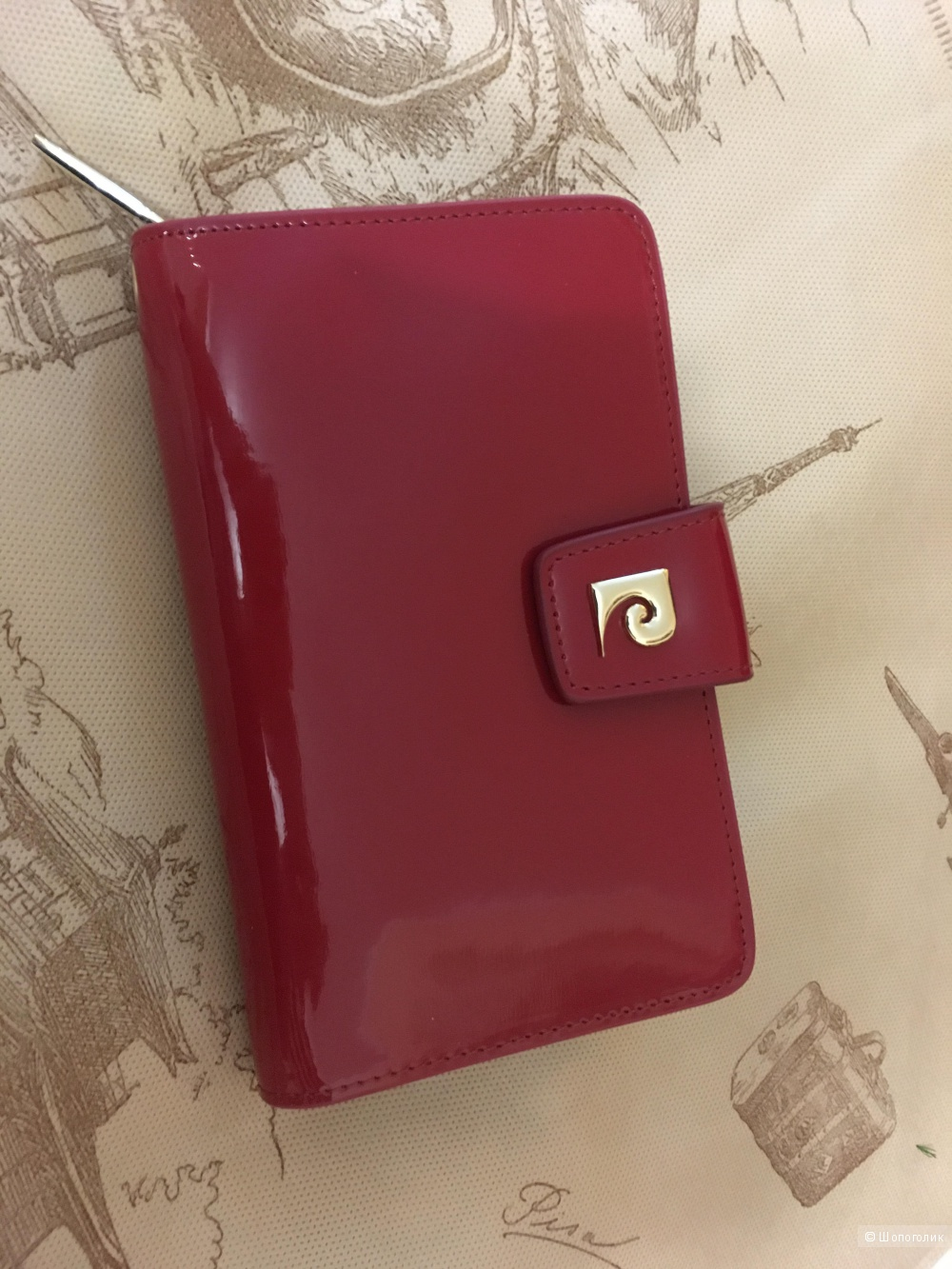 Красный кошелек Pierre Cardin оригинал