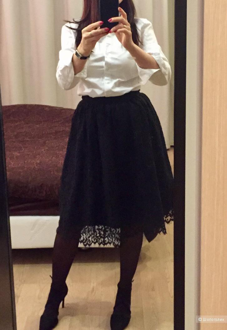 Кружевная юбка черного цвета