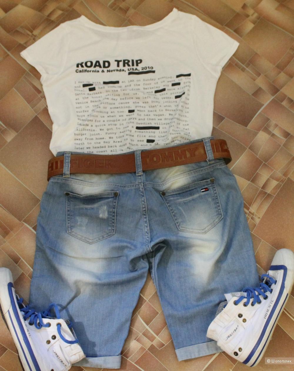 Удлиненные,джинсовые шорты,TOMMY HILFIGER,размер 27