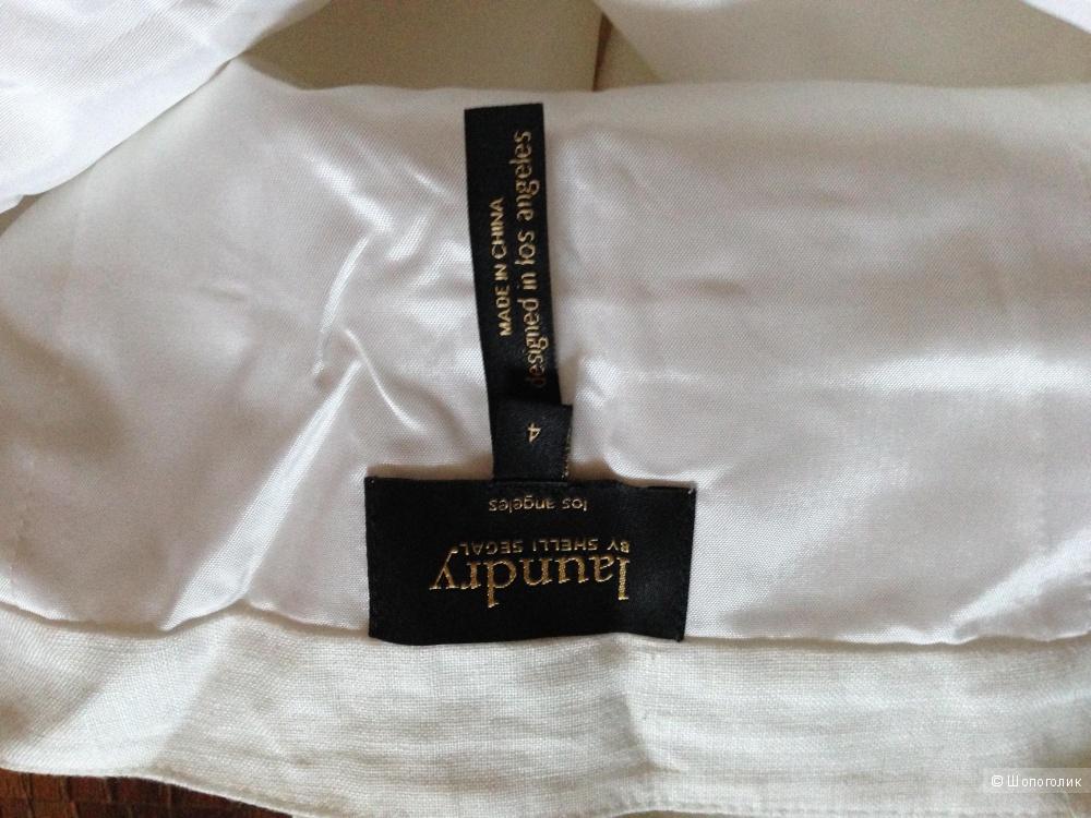 Платье-сарафан от Laundry By Shelli Segal из льна с ришелье р.44 Новый.Оригинал