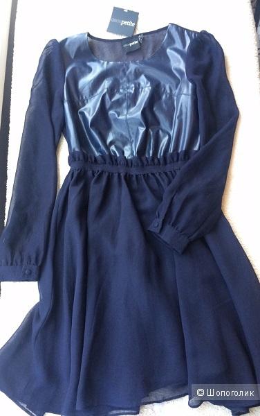 Темно-синее коктельное платье ASOS Petite / UK8