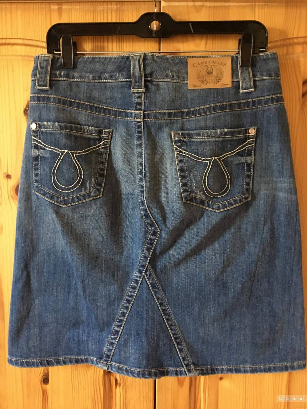Синяя джинсовая юбка Cambio Jeans размер немецкий 36
