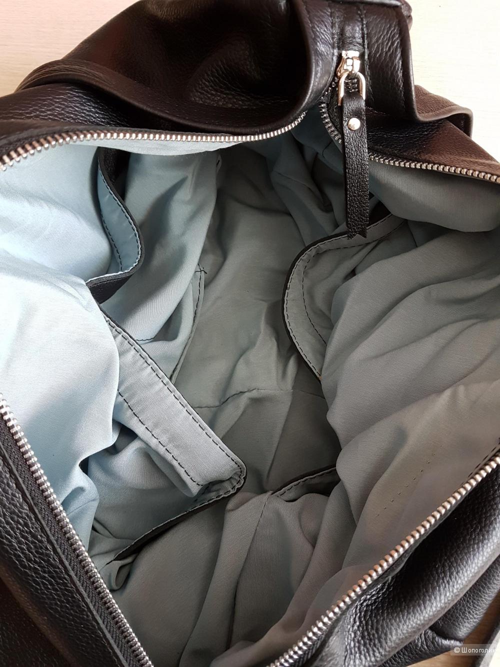 Сумка-рюкзак, кожа, чёрный цвет