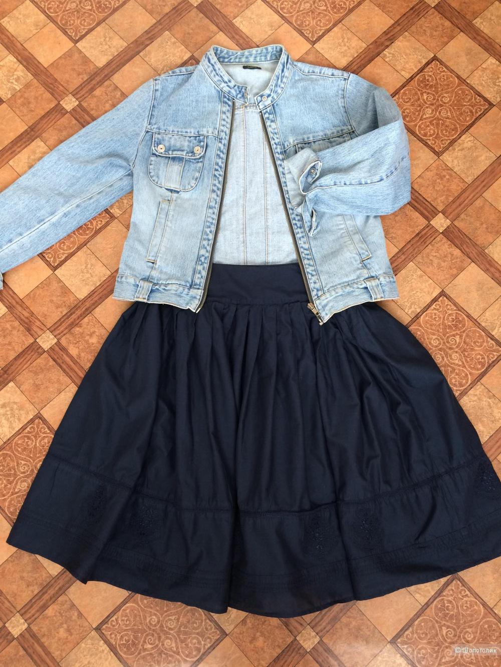 Пышная синяя юбка St Johns Bay, р-р 44 - 46