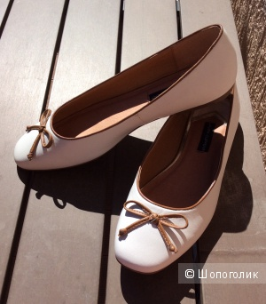 Балетки белые Laura Clement р.40 (26 см)