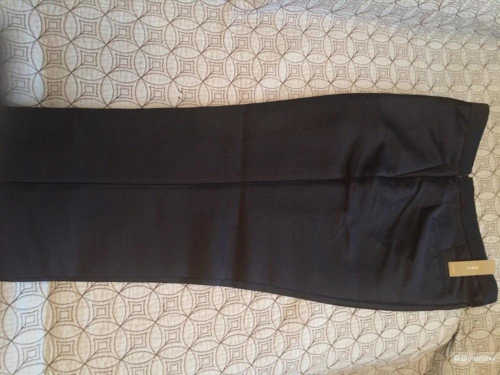 Темно-синие брюки с эффектом атласа от Jcrew из весенней коллекции, размер 10US
