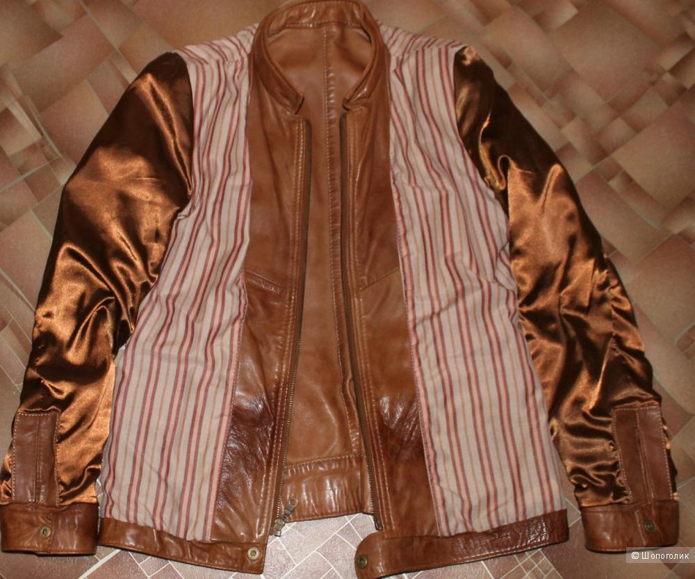 Кожаная куртка NEXT,размер UK 10,рус.40-42