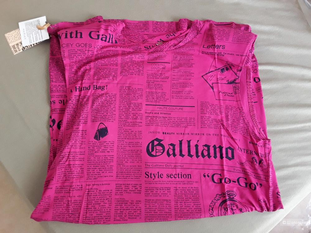 Летнее платье John Galliano 48-50 размер L-XL фуксия