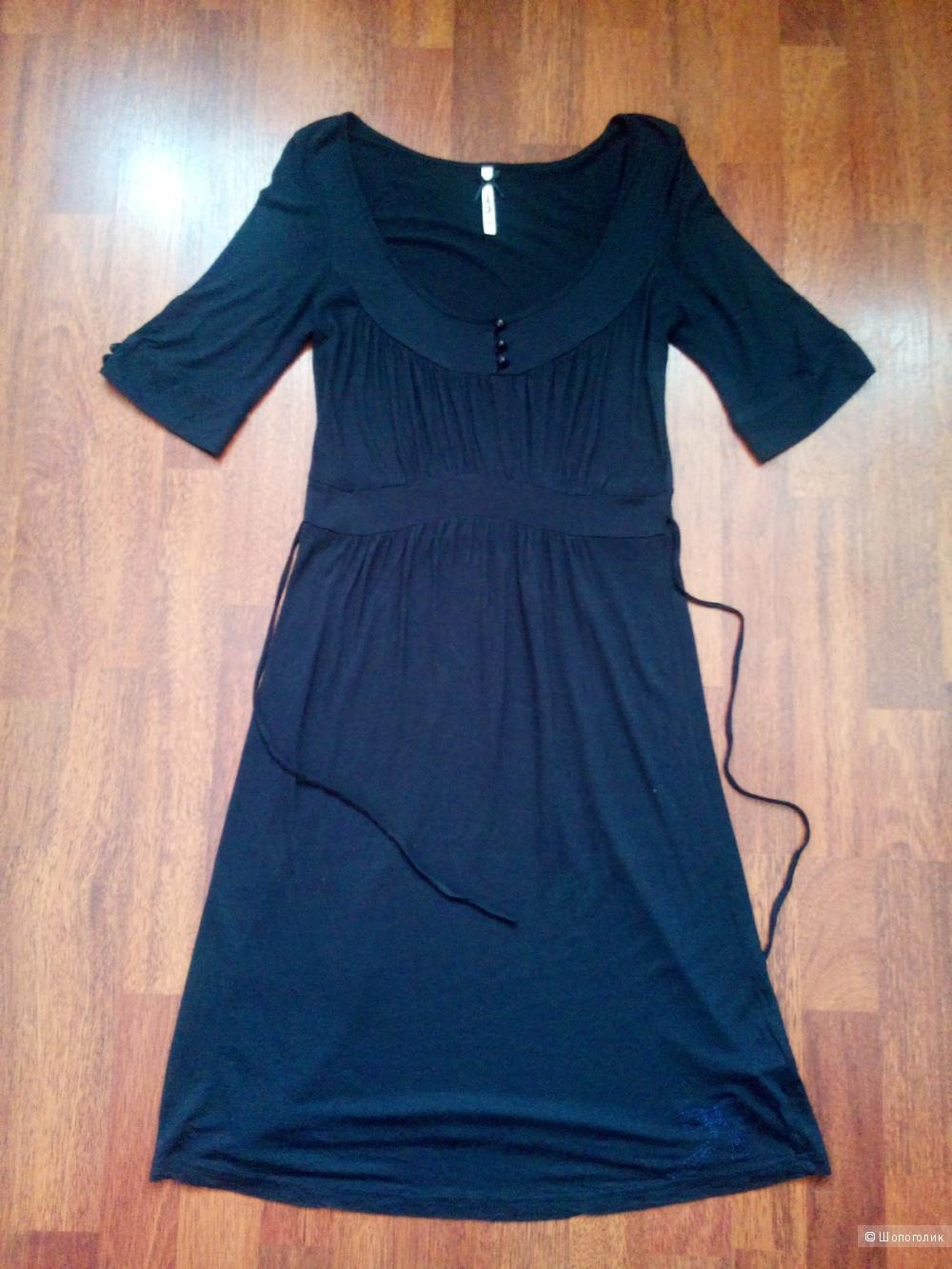 Платье трикотажное  темно синего цвета PEPE JEANS в размере M