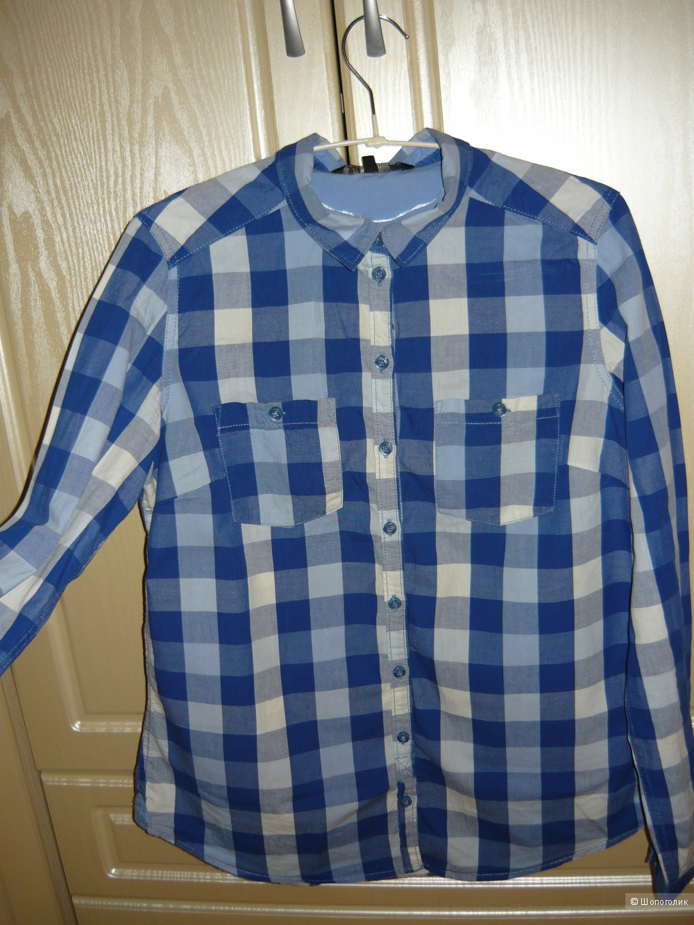 Клетчатая рубашка Reserved , бу, размер M-L