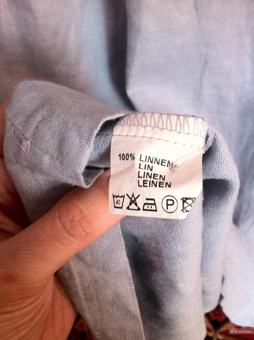 Платье-рубашка Antognini Jeans, 100% лен, 44-46 размер