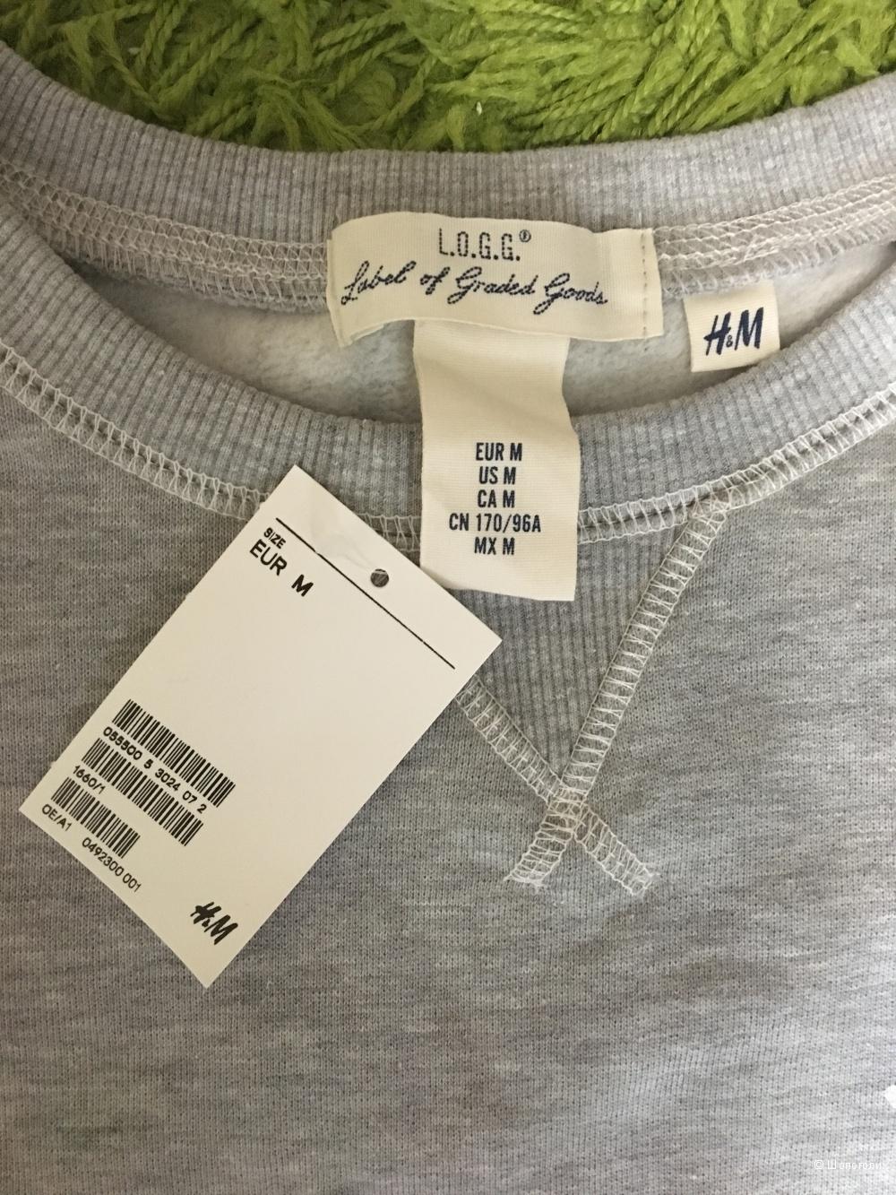 Толстовка серая H&M размера М/L