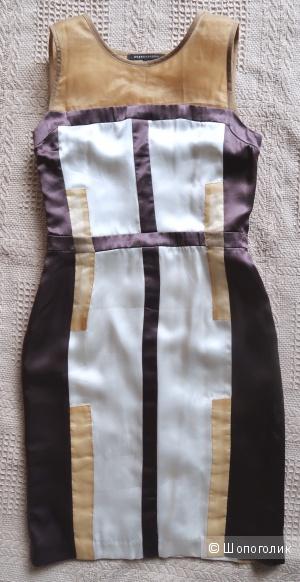 Шелковое платье-футляр на российский 40 размер