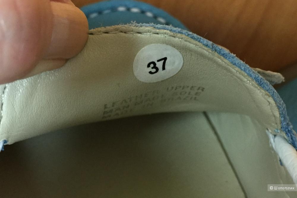 Женские мокасины 37RUS размера из нат.кожи