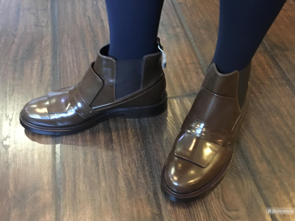 Ботинки челси TOD'S. 38 (Европейский Размер). На ногу 25-25,5 см. Цвет какао