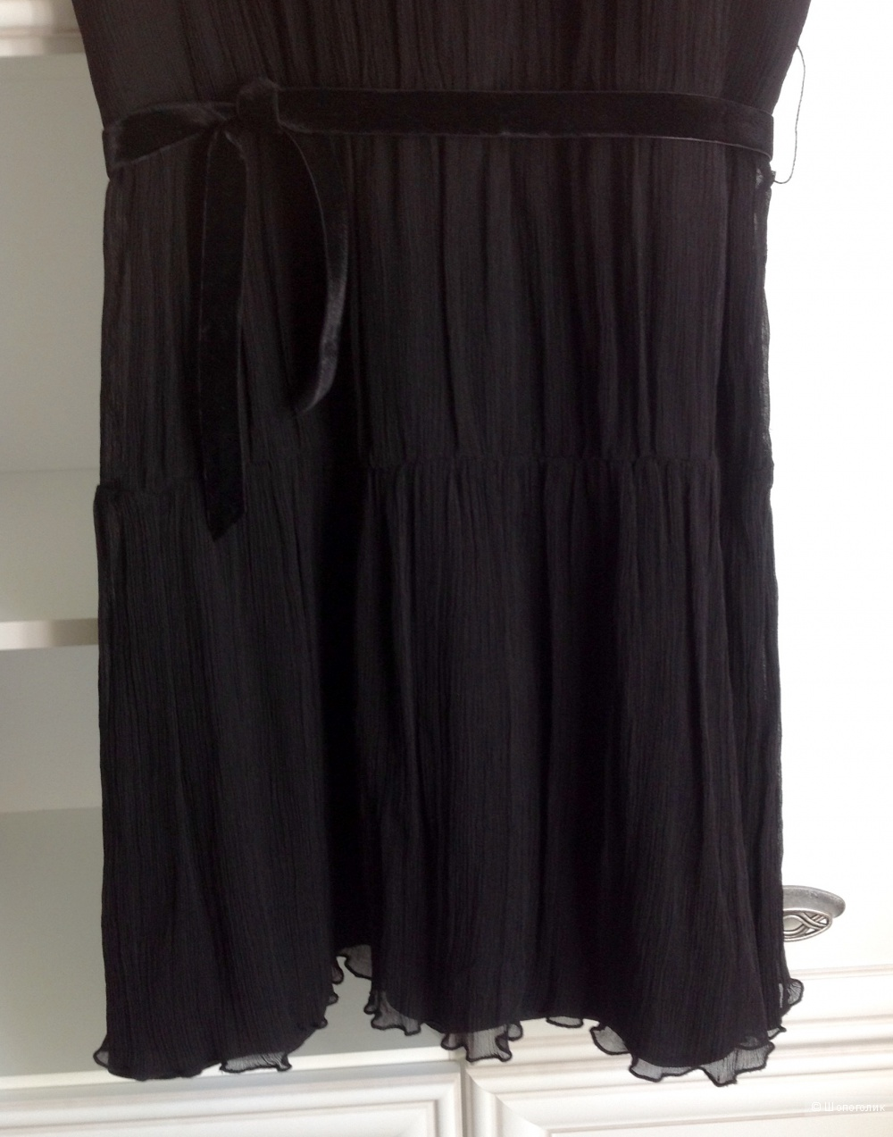 Платье из креш-шифона Kookai, размер 44-46.