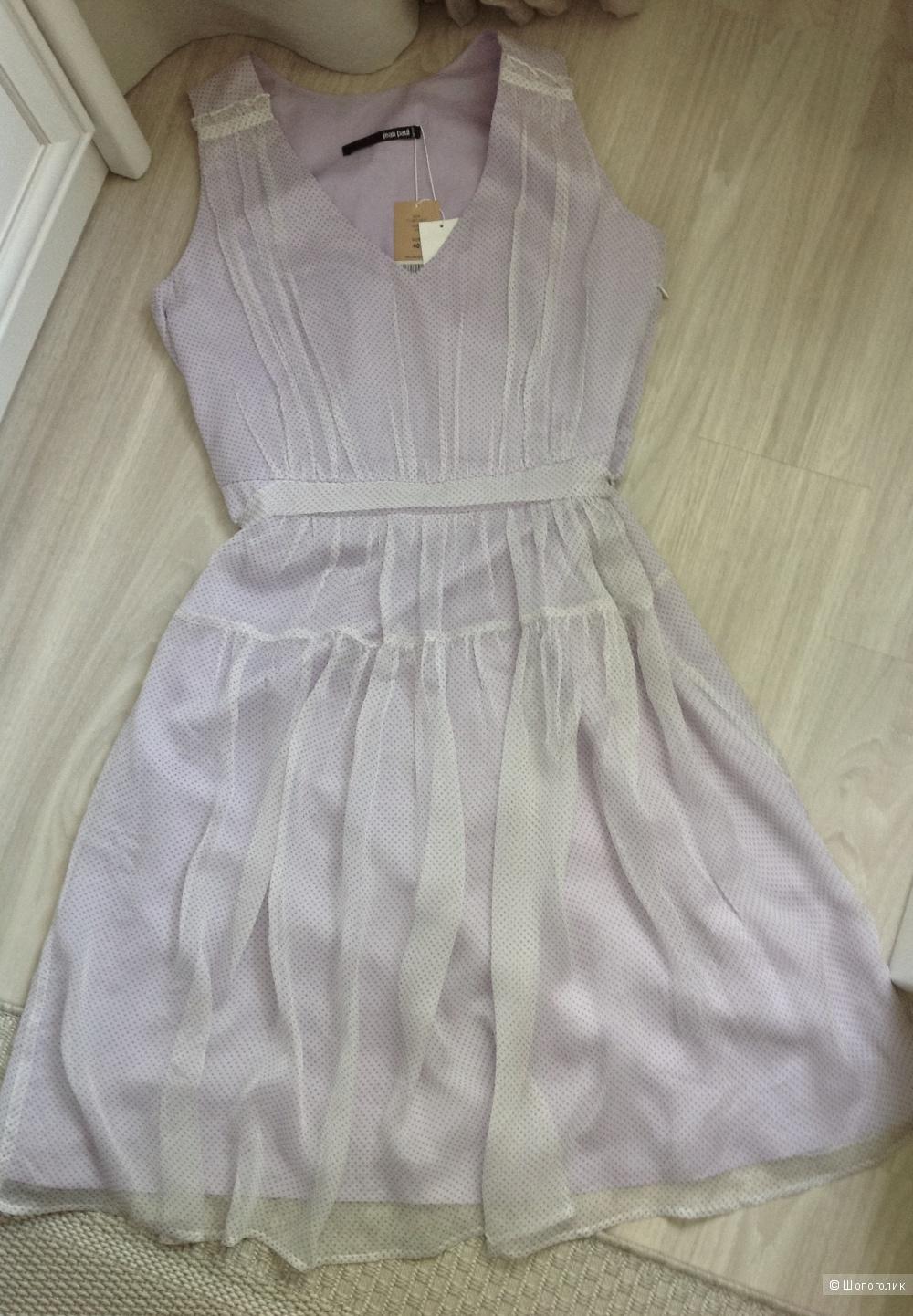 Платье из шифона в горошек Jean Paul Berlin, размер 46-48.