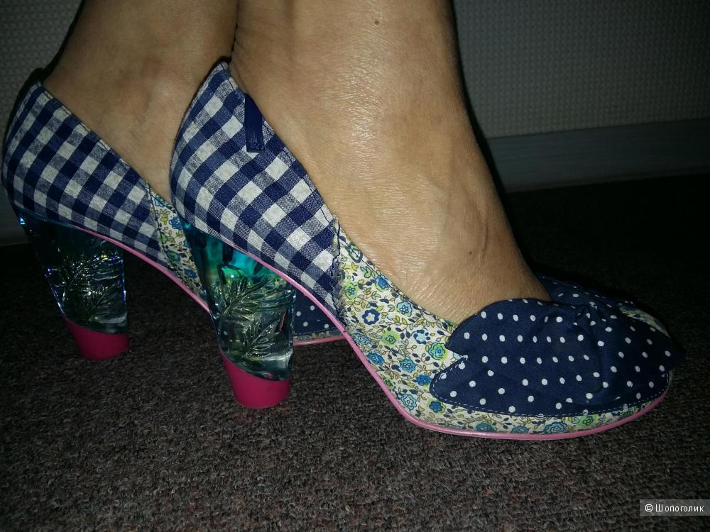 Туфли с прозрачным каблуком Irregular Choice 38EU