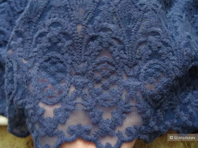 Юбка из ткани с шитьём, размер 44-46, б/у