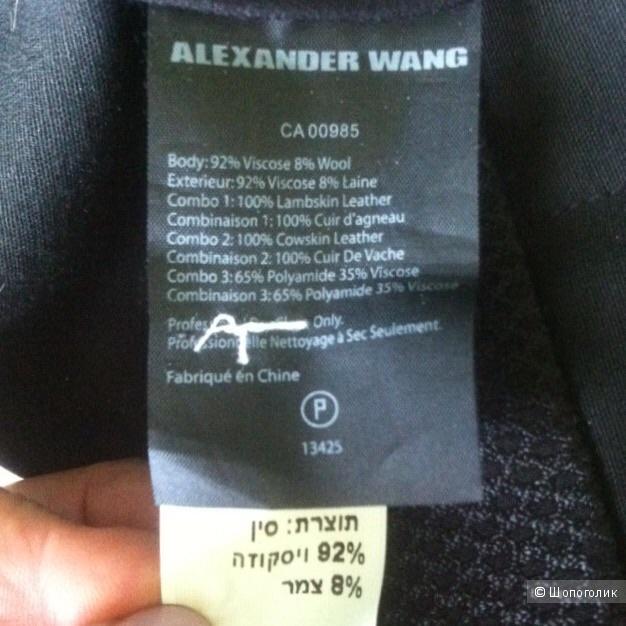 Брюки с кожей ягненка ELXANDER WANG,44it(46russ)