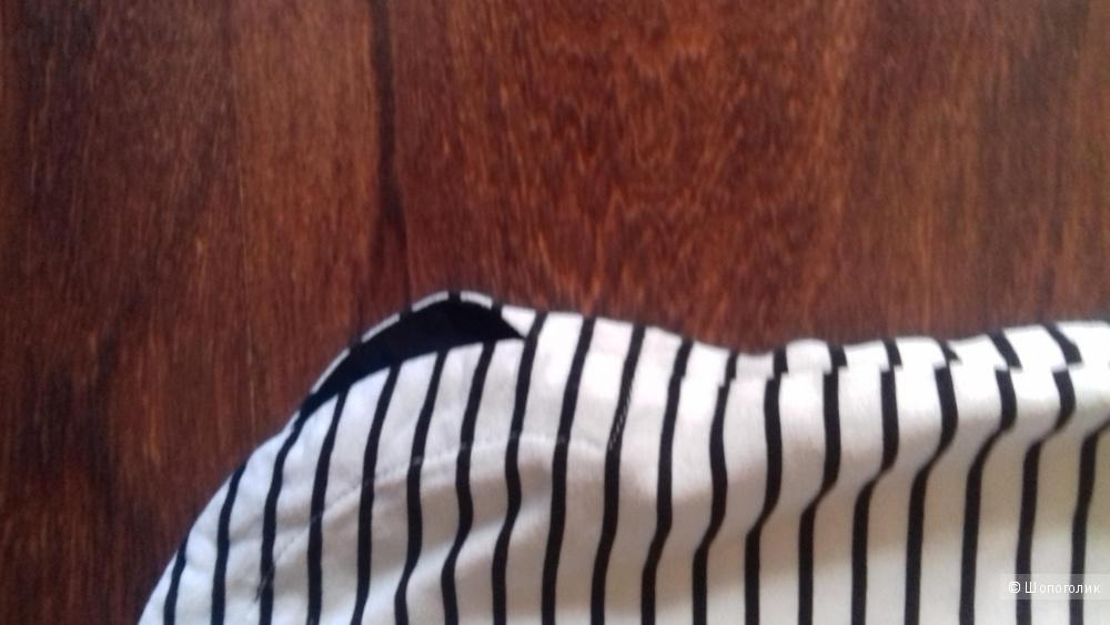 Блузка Zolla c коротким рукавом с принтом в полоску