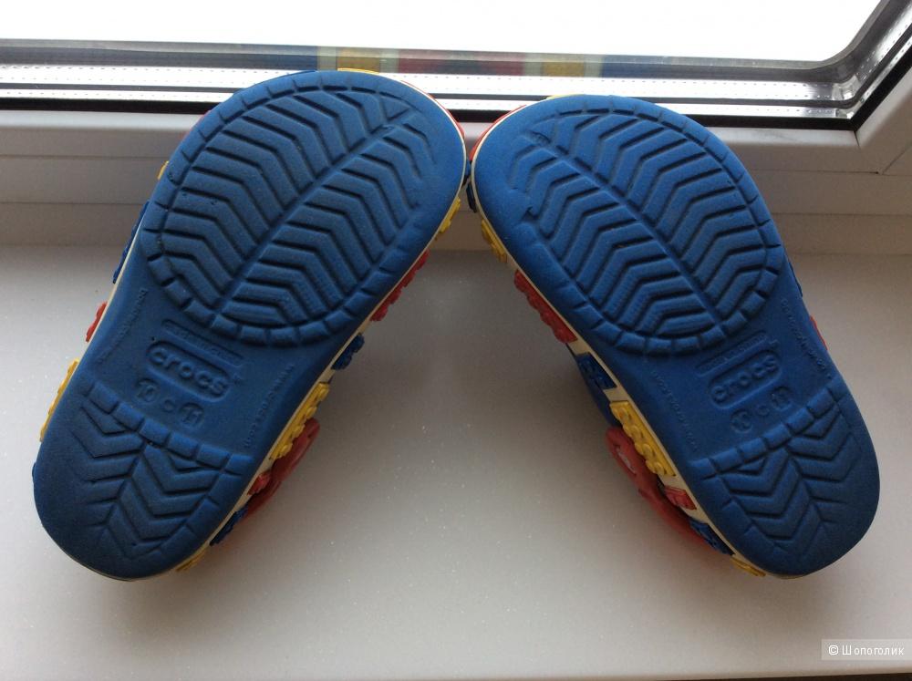 Пляжные тапки детские Crocs р.10-11 (на ножку 17-18 см)