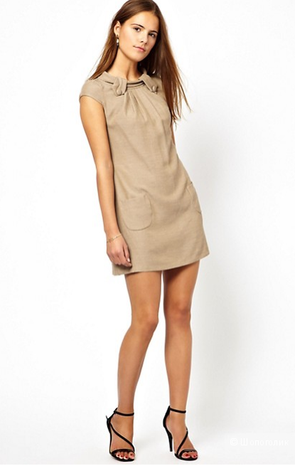 Closet Button Detail Shift Dress UK10