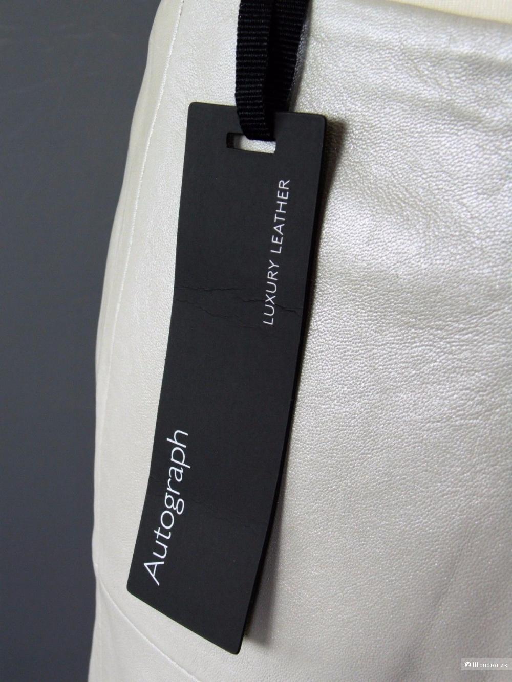 "Юбка из натуральной кожи ""Marks and Spencer"" размер 10 UK (44-46)"