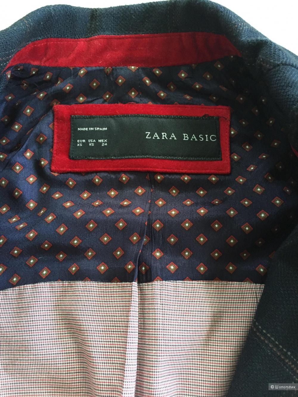 Пиджак Zara, размер xs, б/у