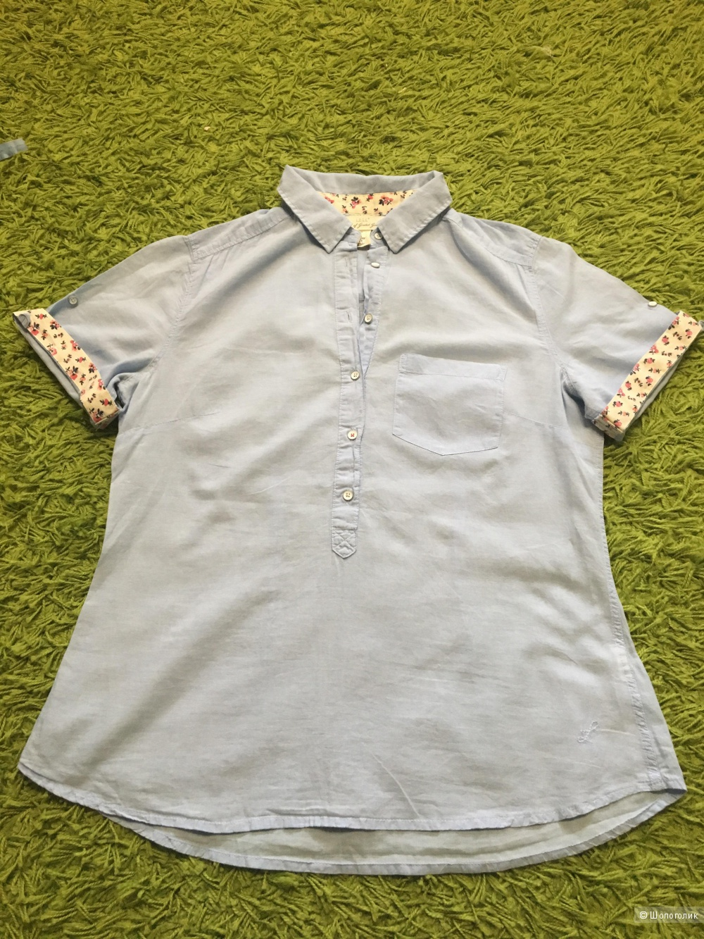 Рубашка с коротким рукавом H&M размер 38