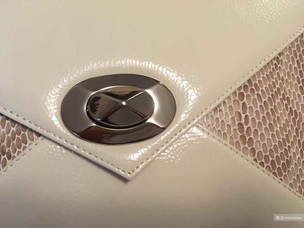 Сумка-портфель из лаковой кожи Giulia Ricci, новая с бирками