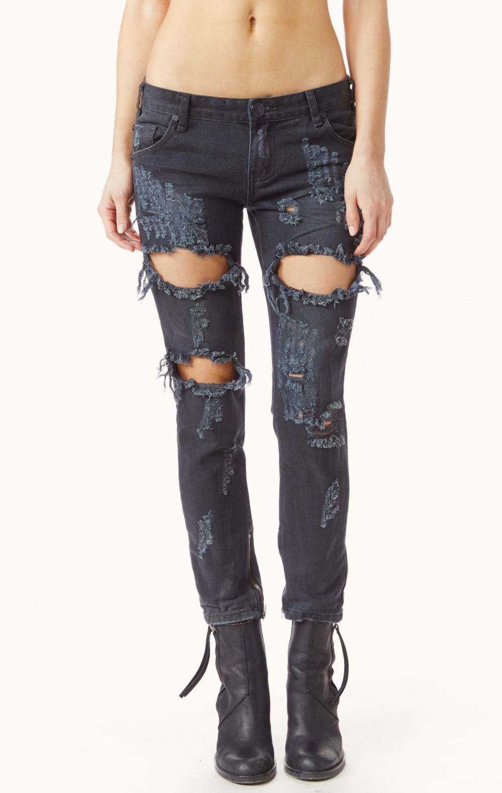 Крутые рваные джинсы австралийского бренда One Teaspoon