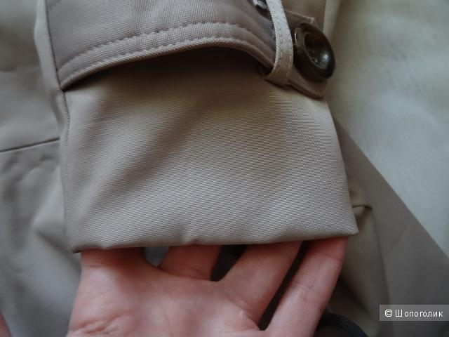 Тренч грибного цвета, размер 42, б/у