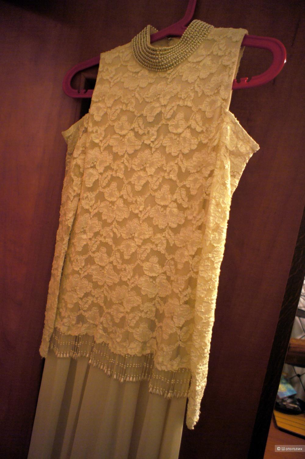 Платье комбинезон 44-46 (низ юбка-брюки)