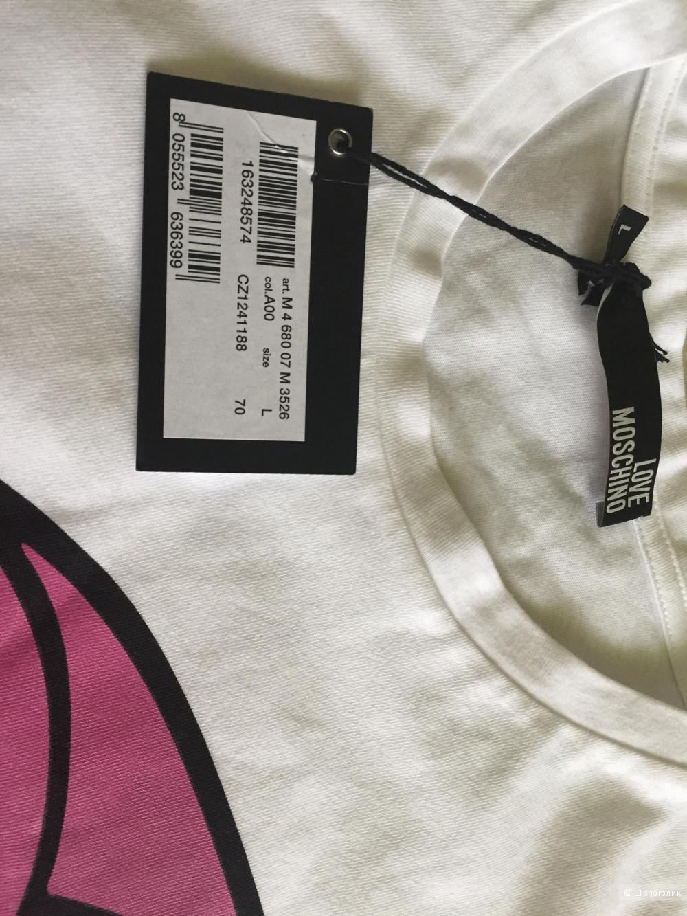 Love moschino новая футболка мужская