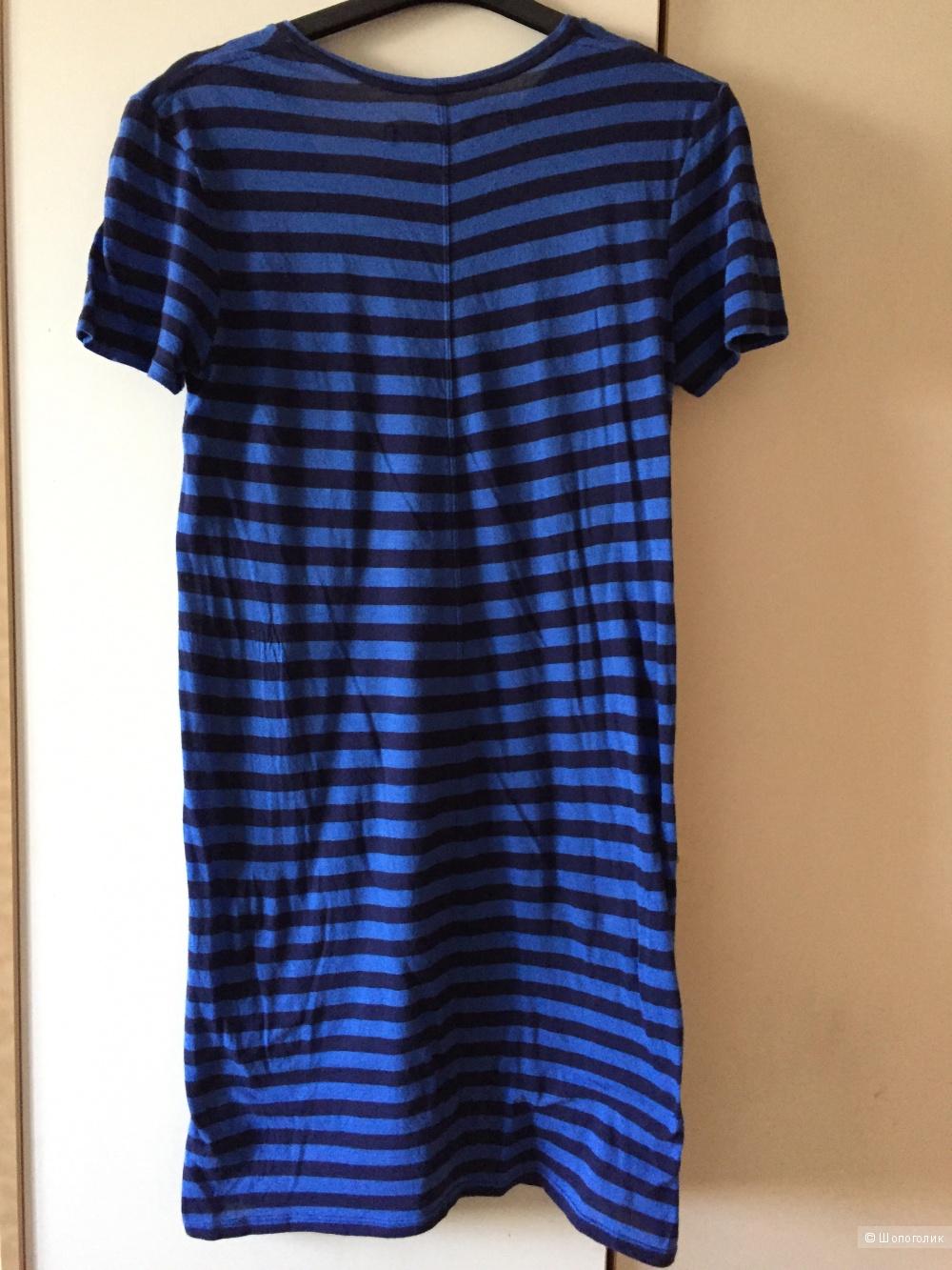 Стильное платье в полоску  ENZA COSTA 100% pima cotton размер L.