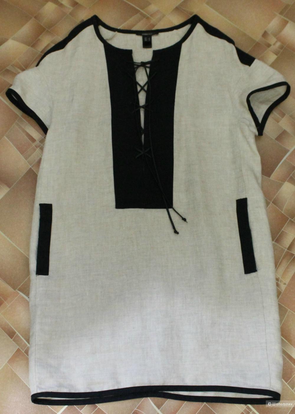 Льняное платье,бренд MANGO SUIT размер XS,рус 42-44