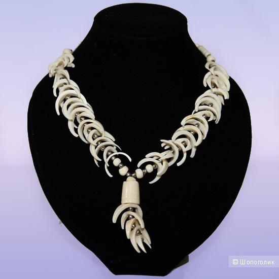 Этническое колье/ожерелье из кости