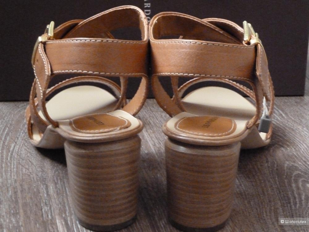 Кожаные босоножки LEONARDO PRINCIPI размер 37,5