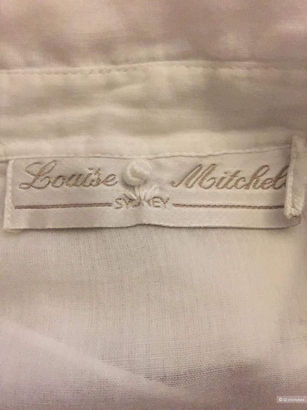 Белая хлопковая рубашка Louise Mitchel 3Aus