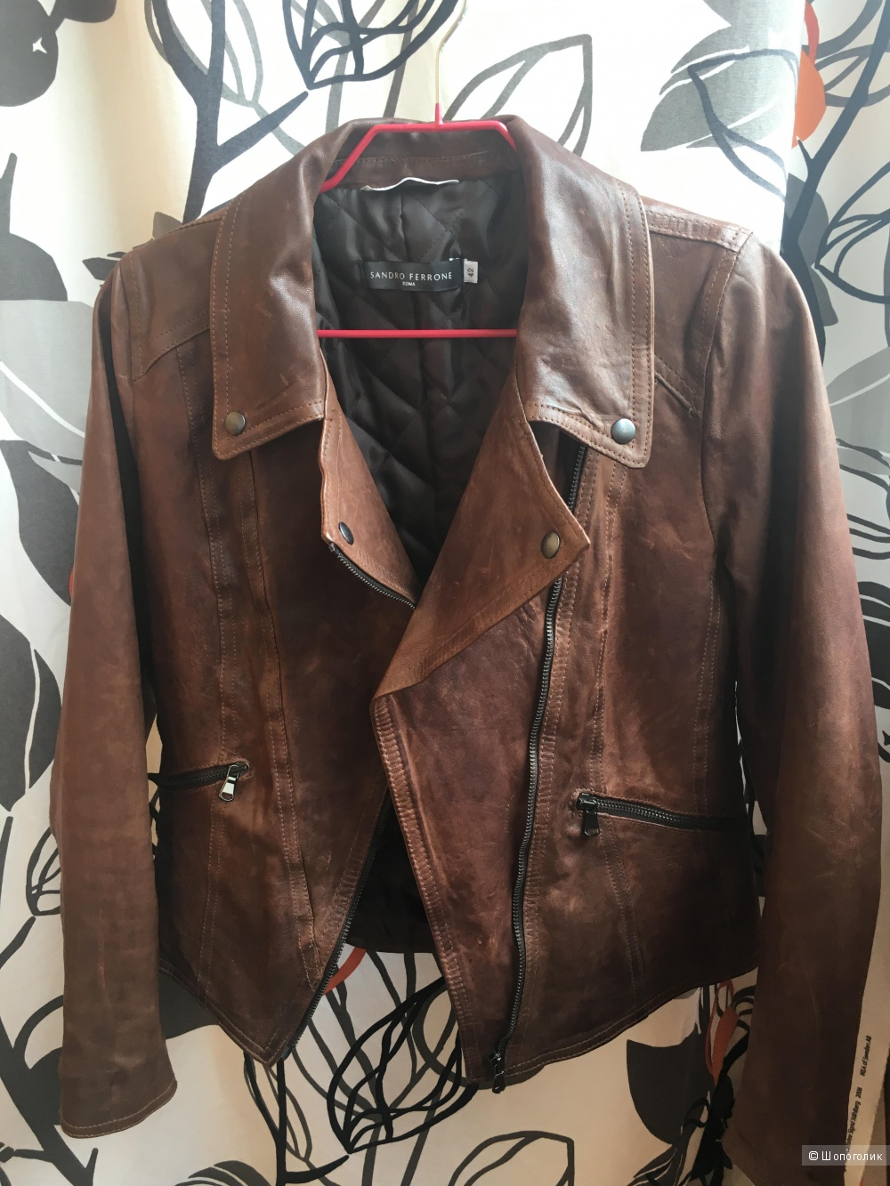 Итальянская,кожаная куртка 44 раз.