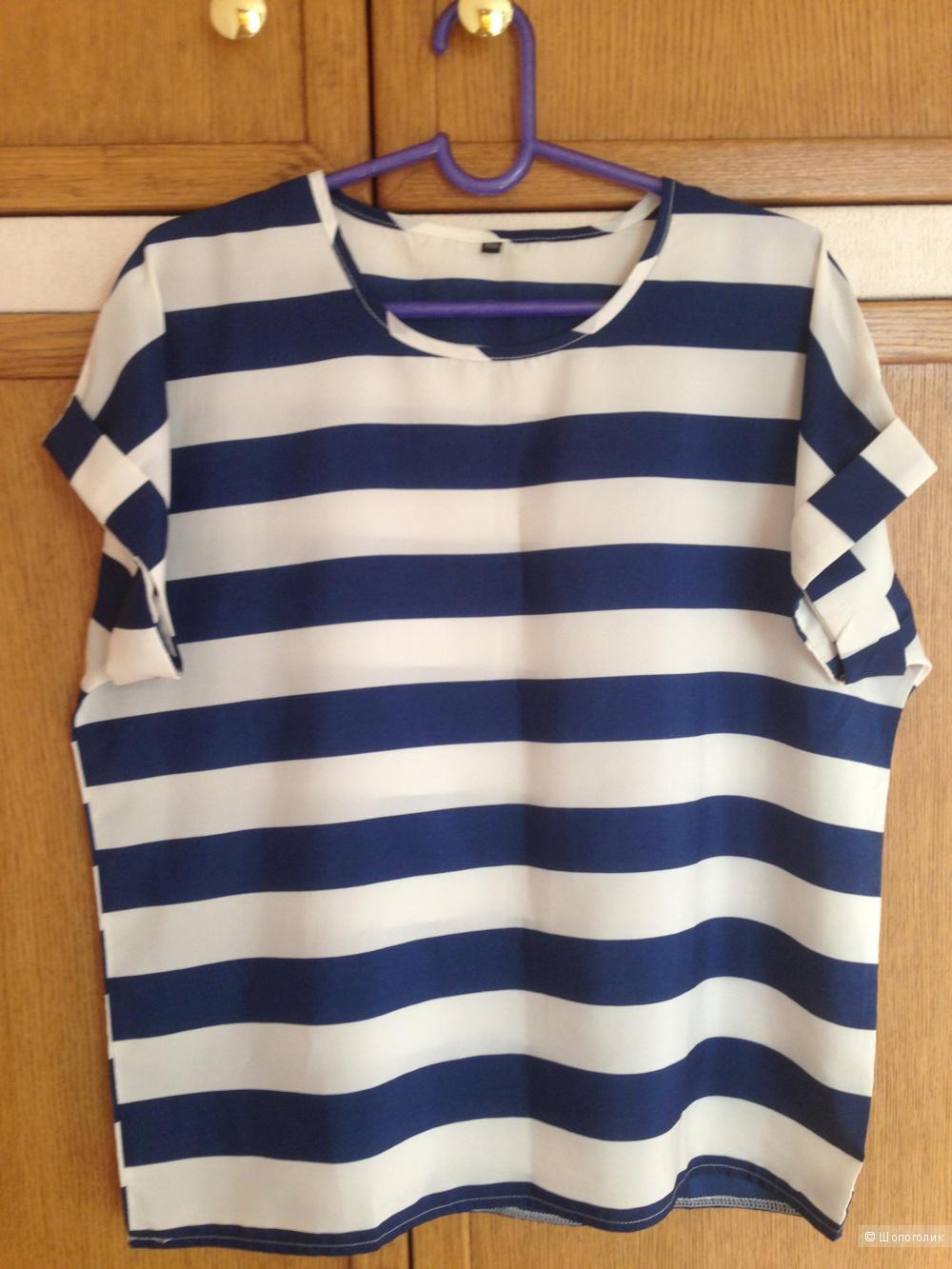 Полосатая футболка. (oversize)