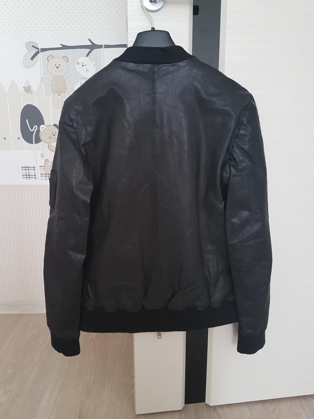 Кожаная куртка Muubaa с меховой отделкой, размер 42-44